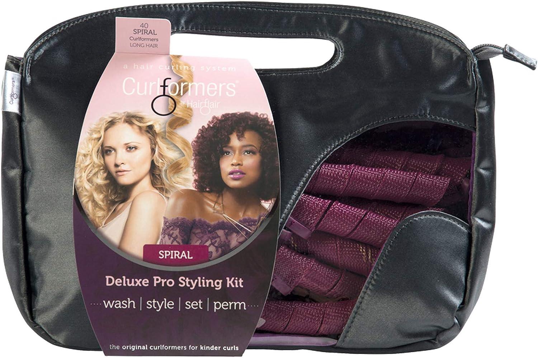 Curlformers - Set de 40 rizadores de pelo para rizos semiabiertos - No requieren calor - Con 2 aplicadores - Para cabellos de hasta 35cm (14