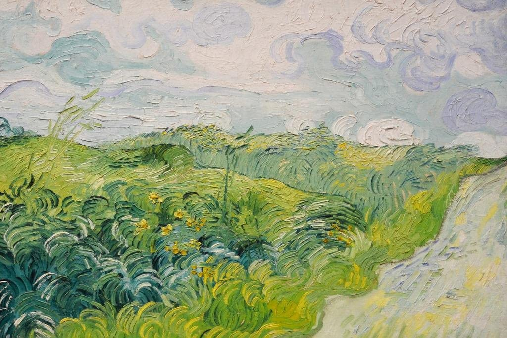 Vincent Van Gogh Field with Green Wheat Cool Wall Decor Art Print Poster 36x24