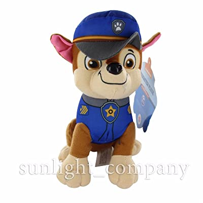 """QuStars Chase 14"""" Nickelodeon Paw Patrol X Puppy Pals Stuffed Plush Doll Kids Gift Toy: Toys & Games"""