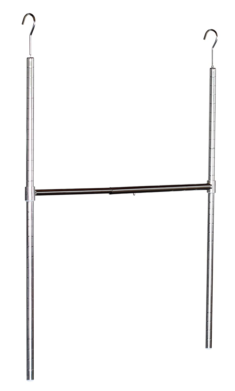 Amazon.com: DecoBros Adjustable Hanging Closet Rod, Chrome: Home U0026 Kitchen