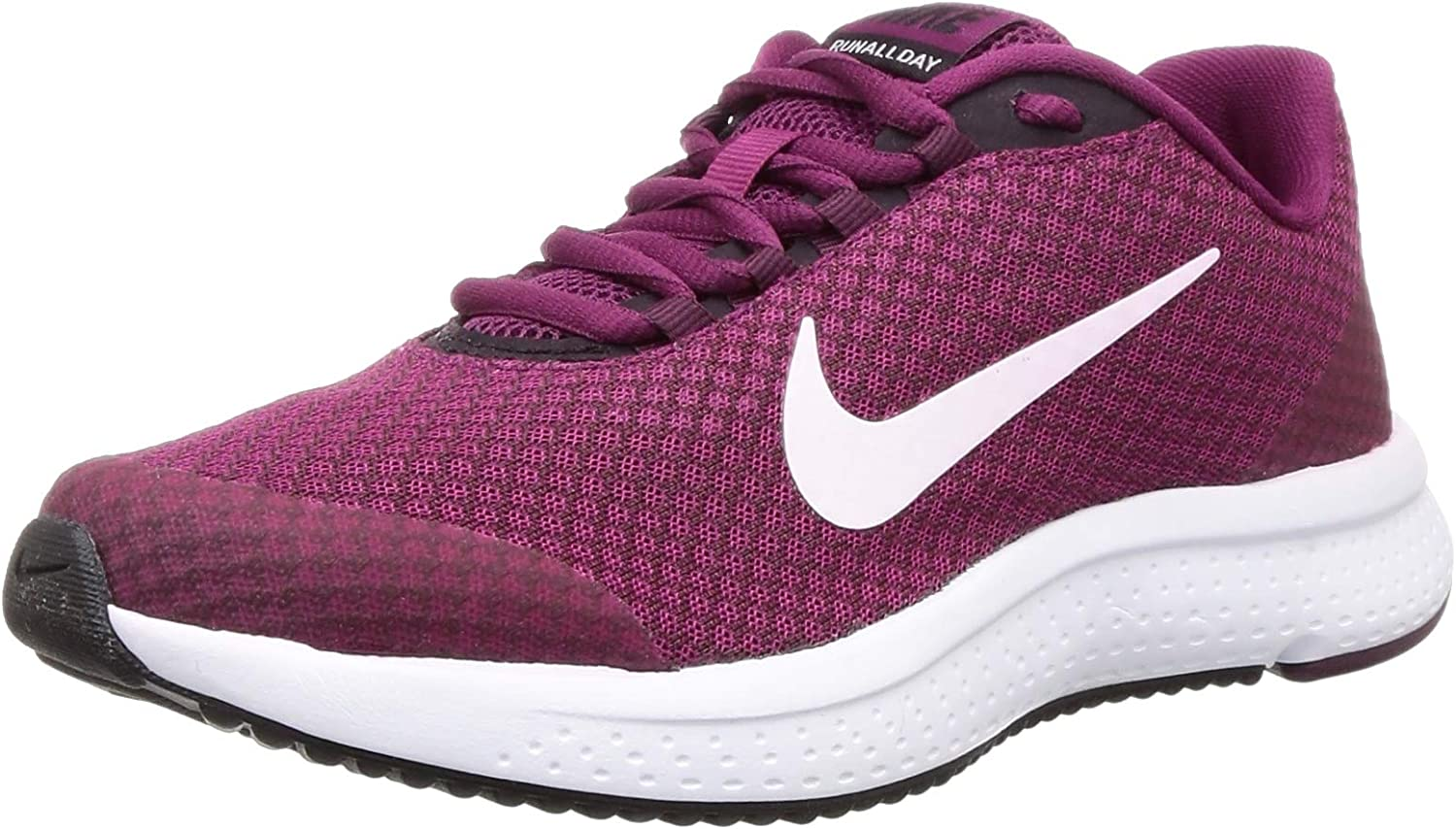 Nike Wmns RUNALLDAY, Zapatillas de Atletismo para Mujer, Multicolor (True Berry/White/Burgundy Ash/Bordeaux 603), 36.5 EU: Amazon.es: Zapatos y complementos