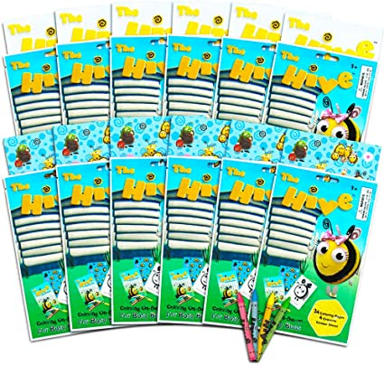 - Amazon.com: The Hive Bumble Bee Coloring Book Party Favors Pack -- 12 Mini  Hive Coloring Books With Crayons And Bumble Bee Stickers (Bee Party  Supplies): Toys & Games