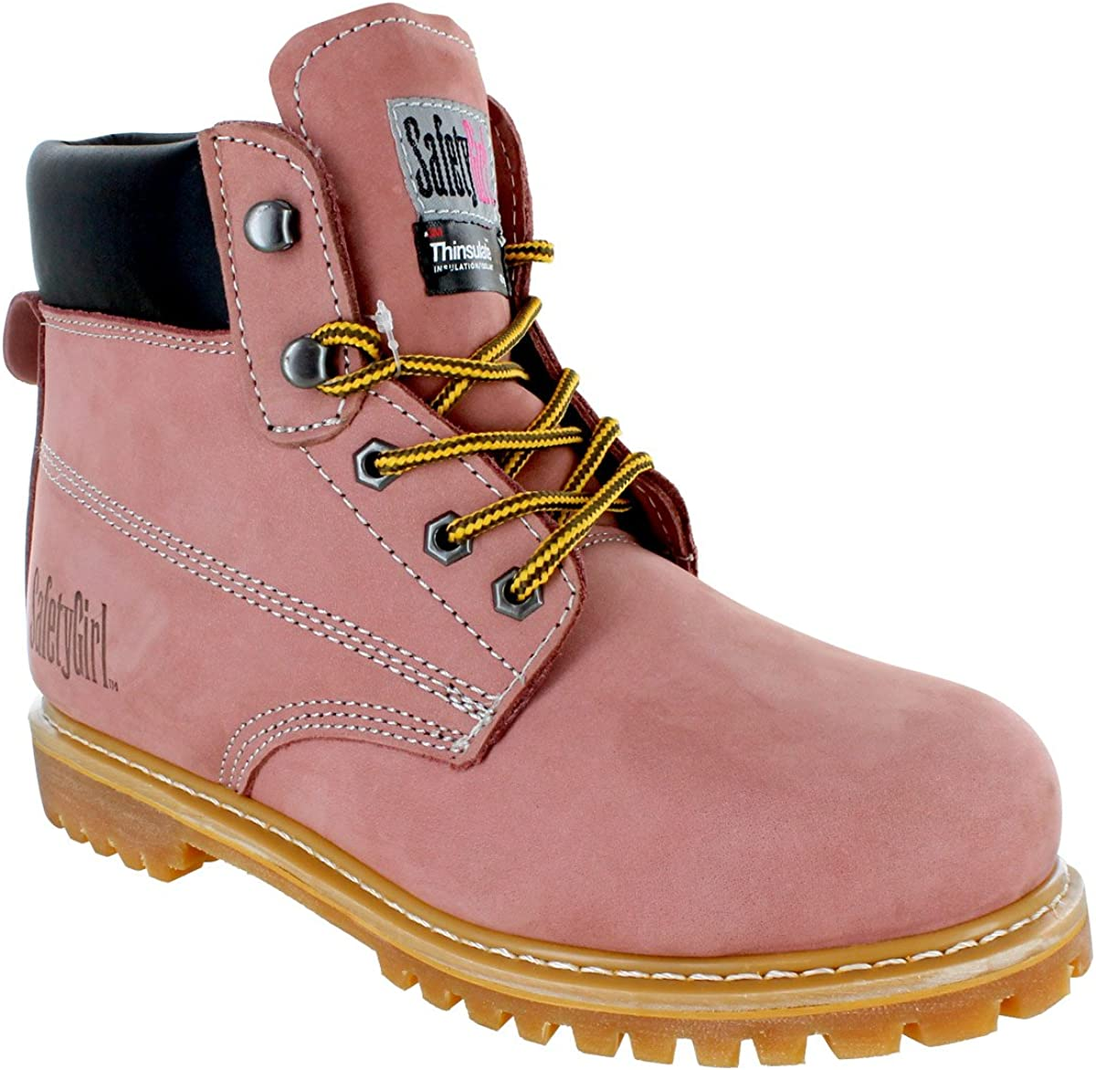 Safety Girl II Insulated Work Boot Steel Toe Light Pink