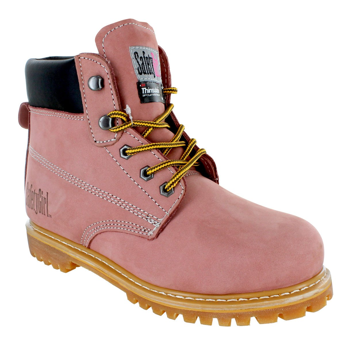 Safety Girl GS005-LTPink-8M Safety Girl II Insulated Work Boot - Steel Toe 8M, English, Capacity, Volume, Leather, 8M, Pink ()