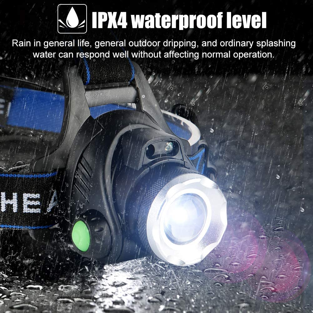 impermeable Tommao Linterna frontal LED recargable por USB c/ómodo para correr ligero ni/ños superbrillante senderismo pesca camping