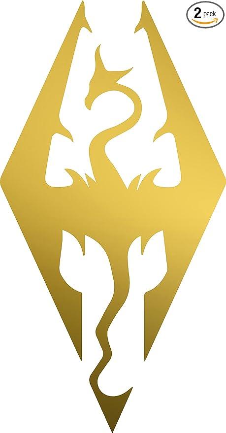 Angdest Skyrim Imperial Symbol Metallic Gold Waterproof Vinyl