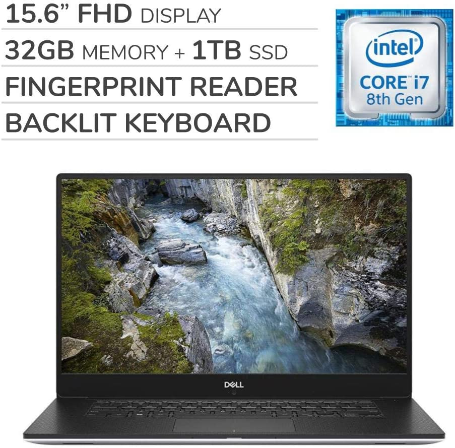 "Dell Precision 5530 Premium 15.6"" FHD IGZO4 Laptop Notebook Computer,Intel 6-Core i7-8850H 2.60 GHz,32GB RAM,1TB SSD,Nvidia Quadro P1000,Backlit Keyboard,No DVD,Webcam,Bluetooth,Wi-Fi,HDMI,Win 10 Pro"