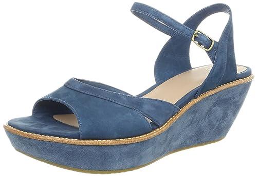91a5b142 Camper - Sandalias de Vestir de Piel Vuelta para Mujer Azul Azul:  Amazon.es: Zapatos y complementos