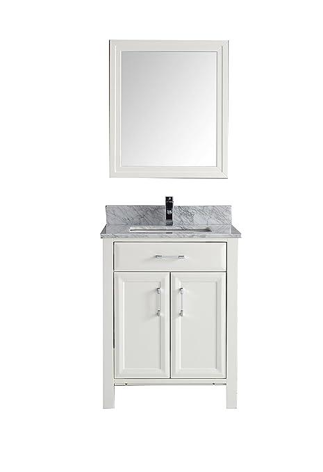 28 Inch Vanity Top.Calbe 28 Inch Vanity Set In White Thick Diamond Quartz Top