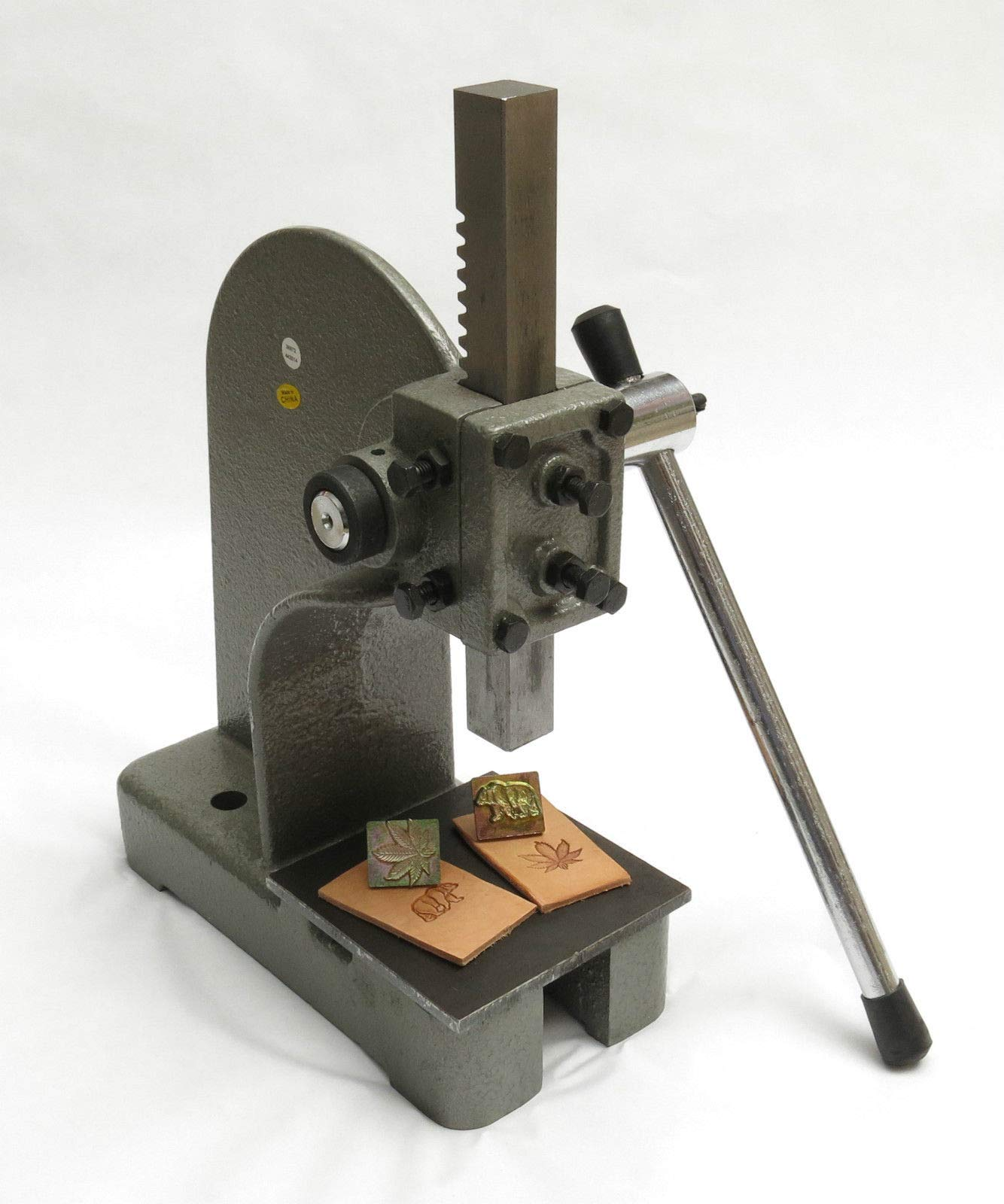 Leather 2000 Pound Stamp Press and Steel Plate Tool for Tandy 3-D Craft