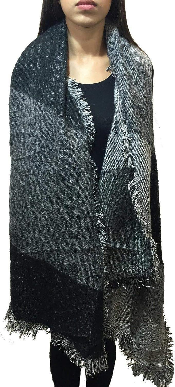 Worldclassca XXL DAMEN WINTER SCHAL 250x65 DICK STRICKSCHAL KARO HALSTUCH SCARF PONCHO CAPE WARM NEU WINTERSCHAL HERBSTSCHAL DECKENSCHAL WEICH KAROSCHAL