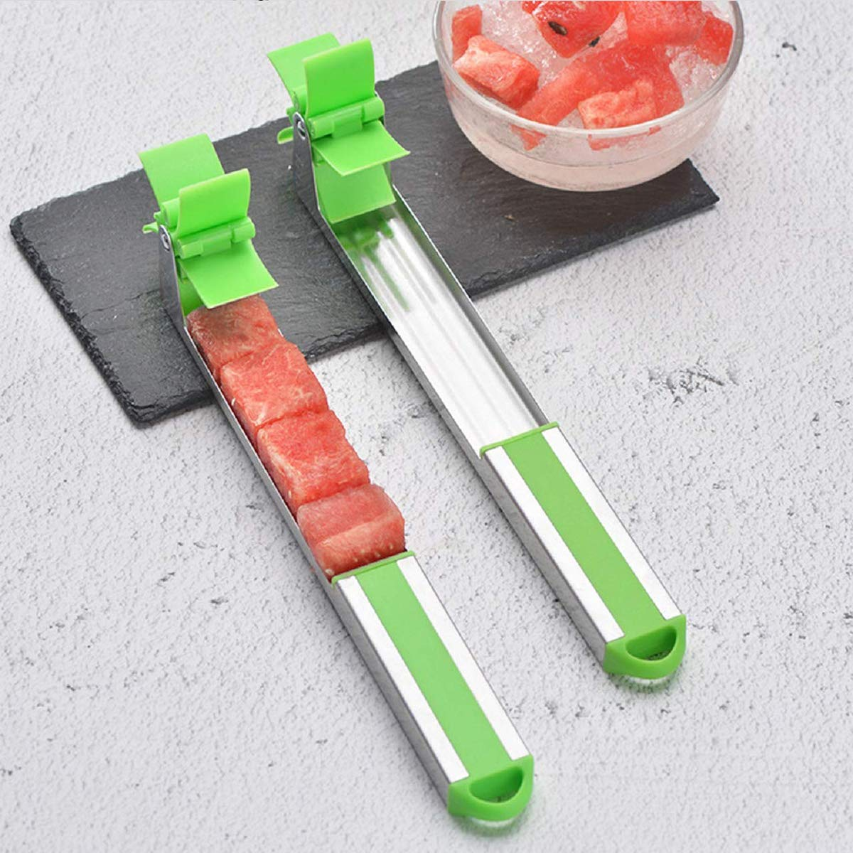 TWBB 2 Pack Watermelon Slicer Cutter Watermelon Windmill Slicer Creative Stainless Steel Watermelon Windmill Cutter by TWBB