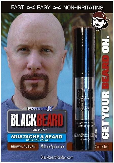 Cepillo de color temporal para barba Blackbeard para hombres, 12 ml, castaño o caoba