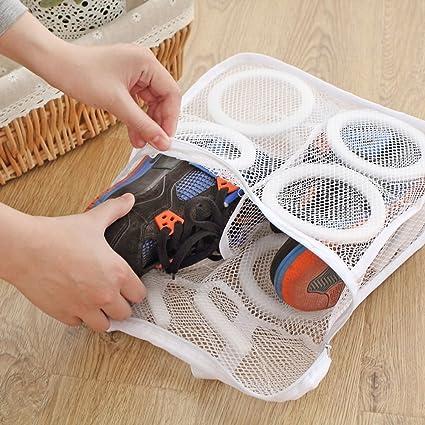 Amazon.com  Whitelotous Portable Mesh Laundry Shoes Bags Dry Shoe ... dd5d8f6d5
