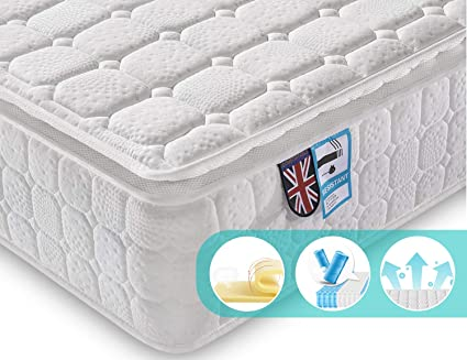 new styles 55e6b d35c4 Ej. Life 2FT6 Small Single Pocket Sprung Mattress,9-Zone Orthopaedic  Mattress and 3D Breathable Fabric Mattress with Memory Foam - 100 Nights  Trial