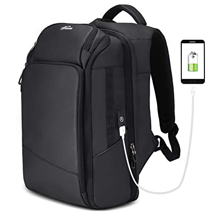 6a93a7c6a0 Amazon.com  Backpack 15.6   Travel Carry On Weekender Extra Large Work  Computer School Backpack Business College Large Capacity USB Charging Port  Men Black  ...