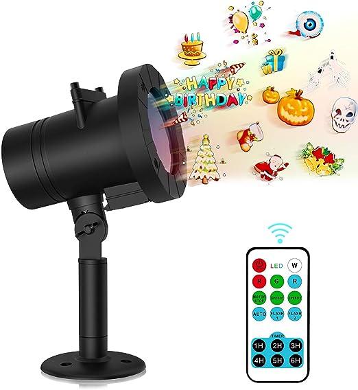 MEIKEE LED proyector luces para Foco Discoteca Navidad con varias ...