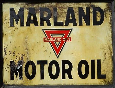 Marland Gas-Oil Póster De Pared Metal Retro Placa Cartel ...