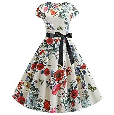 size 40 bdffb 1e856 HULKY Abito Casual Manica Corta Donna Vendita Vintage ...