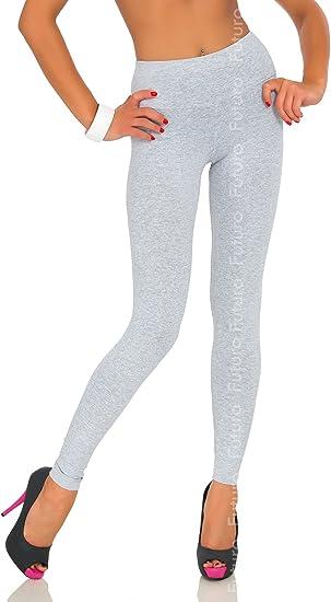 Full Length Orange Premium Cotton Leggings Comfortable Stretchy Pants Sizes 8-22