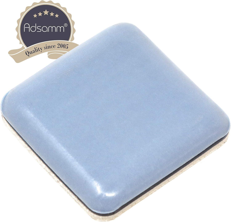 rectangulaire 4 x Patins en PTFE patins glisseurs auto-adh/ésif qualit/é premium de Adsamm/® gris 24x34 mm