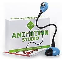HUE Estudio de Animación (Azul) para Windows y macOS: Kit Completo para la realización de animaciones Stop Motion. Incluye Libro en español.
