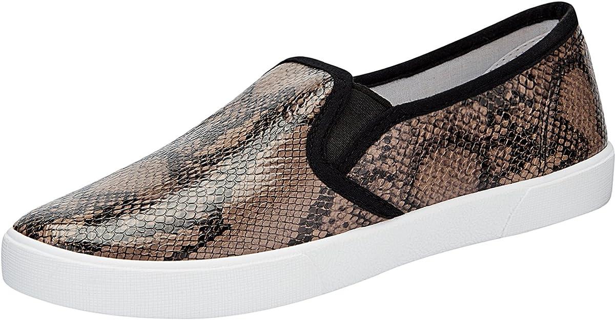 oodji Ultra Mujer Zapatillas Slip On Estampadas de Piel Sintética: Amazon.es: Zapatos y complementos
