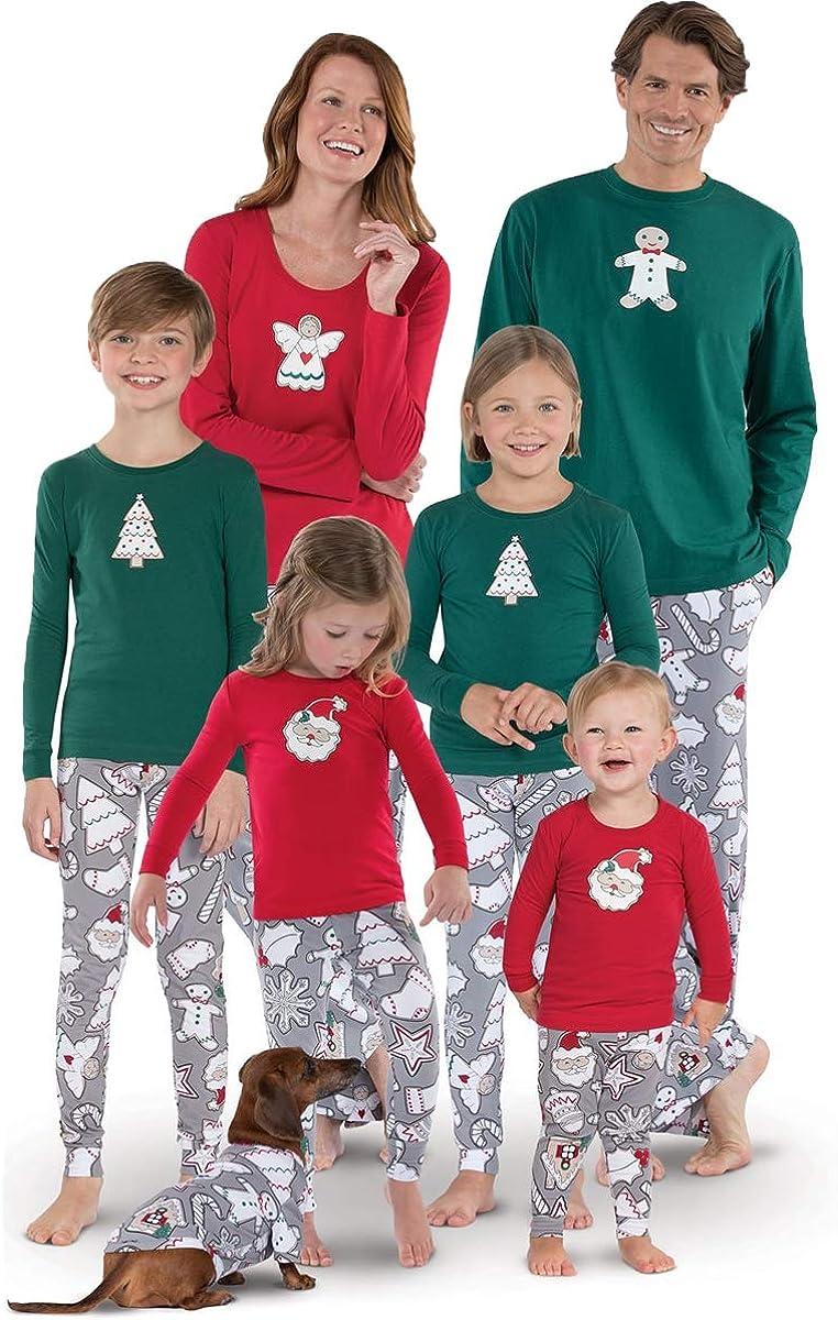 Matching Family Christmas Pajamas Sets Toddler Kids Children Plaid Printed Sleepwear Women Men PJs