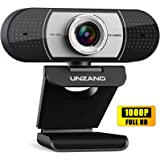 Unzano Webcam with Microphone for Desktop, Full HD 1080p USB Computer Web Camera for Mac PC Laptop, Video Calling…