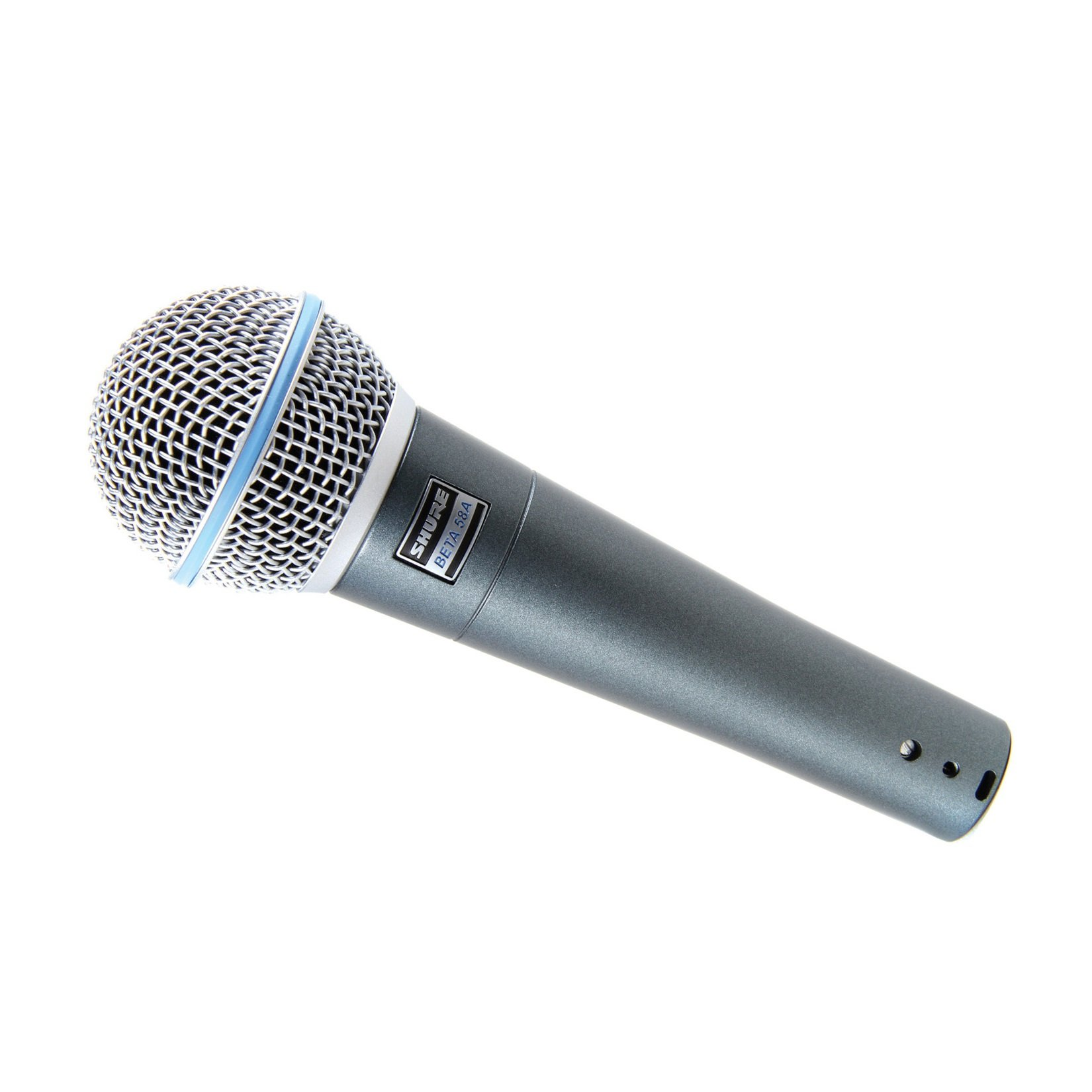 New Shure | High-Performance Supercardioid Dynamic Vocal Microphone BETA 58A with Built-In Spherical Wind & Pop Filter and Stand Clamp