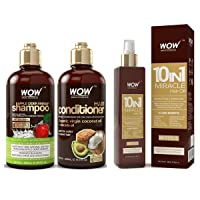 WOW Apple Cider VInegar Shampoo & Hair Conditioner Set (2x 500ml) and Hair Oil (...
