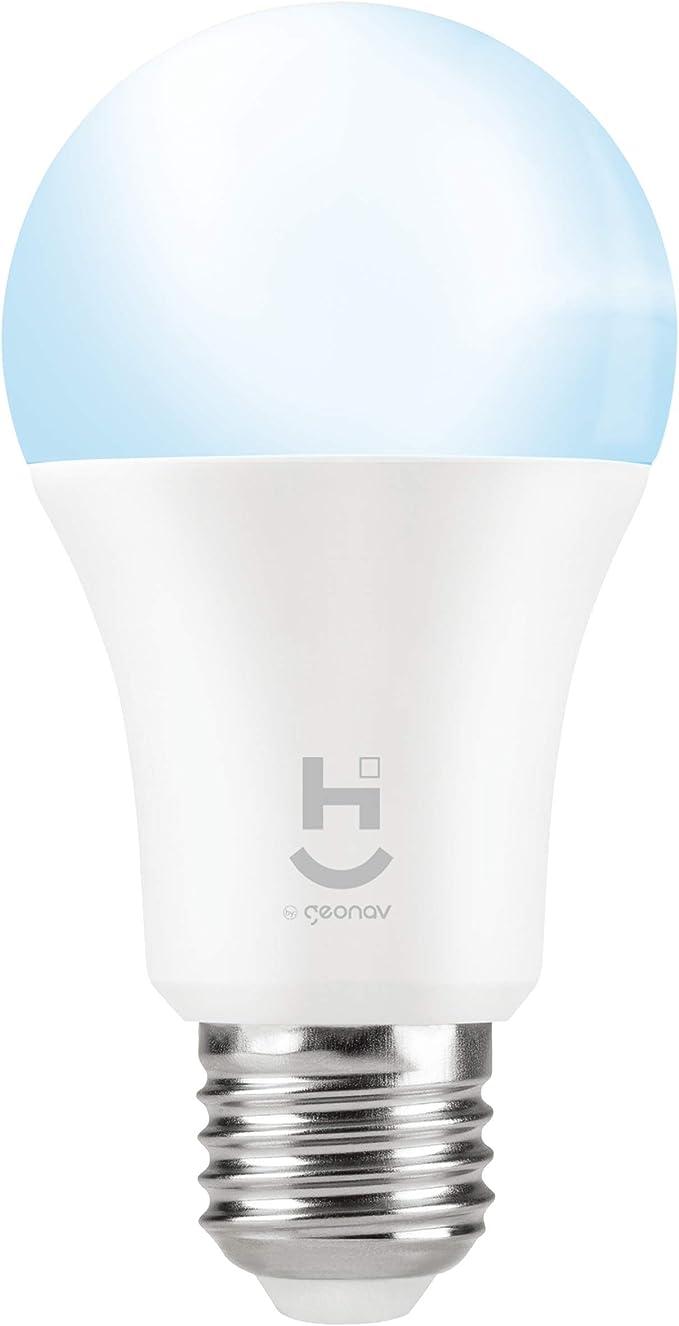 Lâmpada Inteligente LED Wi-Fi, HI by Geonav, Bivolt, 9W, 810 Lumens, Compatível com Alexa por Geonav