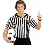 Referee T-Shirt Unisex Costume Medium and Large for Football Sport Fancy Dress