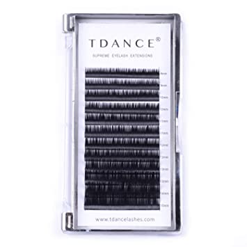 c923e69a3ec TDANCE Premium D Curl 0.18mm Thickness Semi Permanent Individual Eyelash  Extensions Silk Volume Lashes Professional