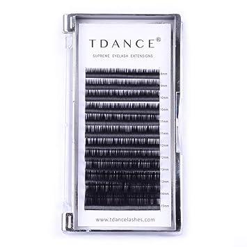 576cf3d18c4 TDANCE Eyelash Extension D Curl 0.07mm Thickness Semi Permanent Individual  Eyelash Extensions Silk Volume Lashes