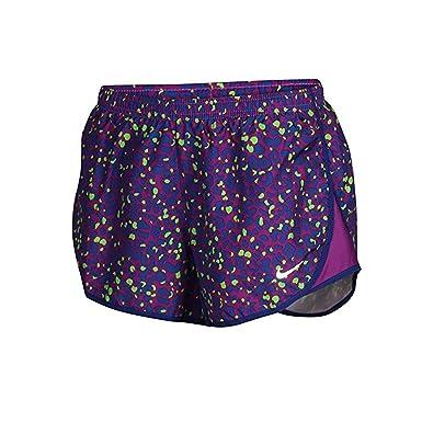 Nike Women'sDRi-Fit Lotus Modern Tempo Running Shorts-Purple/Blu/