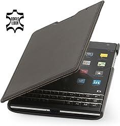 StilGut® Book Type, housse en cuir pour BlackBerry Passport, en acajou nappa