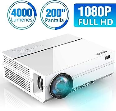 ABOX A6 4000 Lúmenes Proyector, LED Proyector de Cine en casa ...