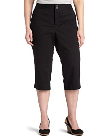 Dockers Women's Plus Size Soft Khaki Capri, Black, 16W at Amazon ...