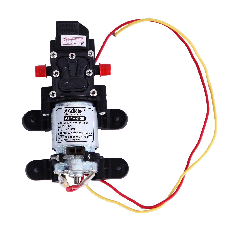 2X 12V 100PSI 4L//Min High Pressure Diaphragm Water Pump For RV CARAVAN BOAT