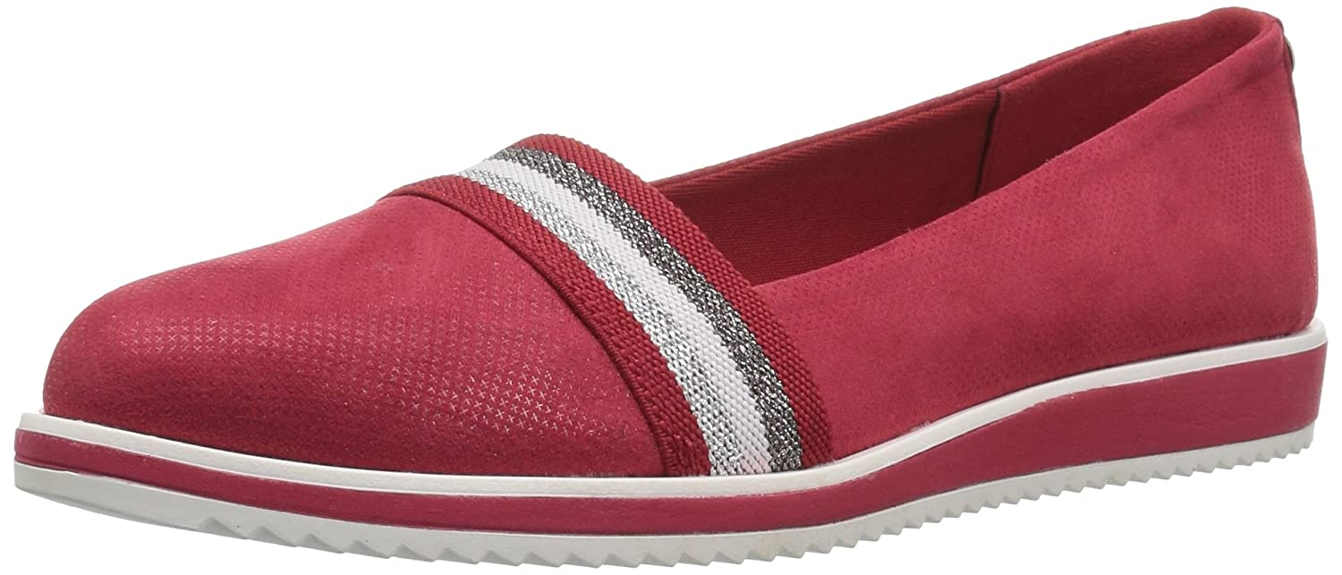 Anne Klein Women's Mallorie Slip Ballet Flat B07C9FB4Z4 5.5 B(M) US|Red Fabric