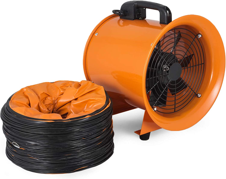 Moracle 220V Ventilador Industrial Portátil Diámetro Axial 250mm Extractor de Aire Eléctrico Ventilador Comercial PVC Conducto 10m