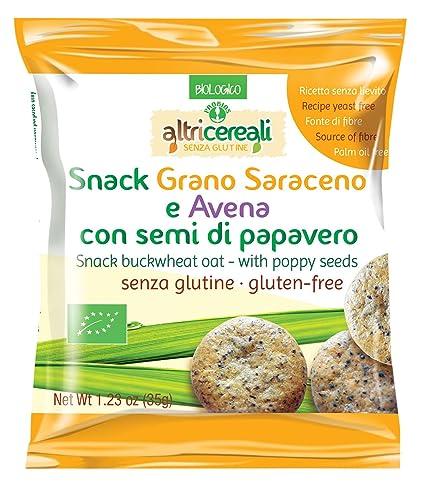 Otros cereales Snack-alforfón y avena con semillas de amapola gluten libre 35g