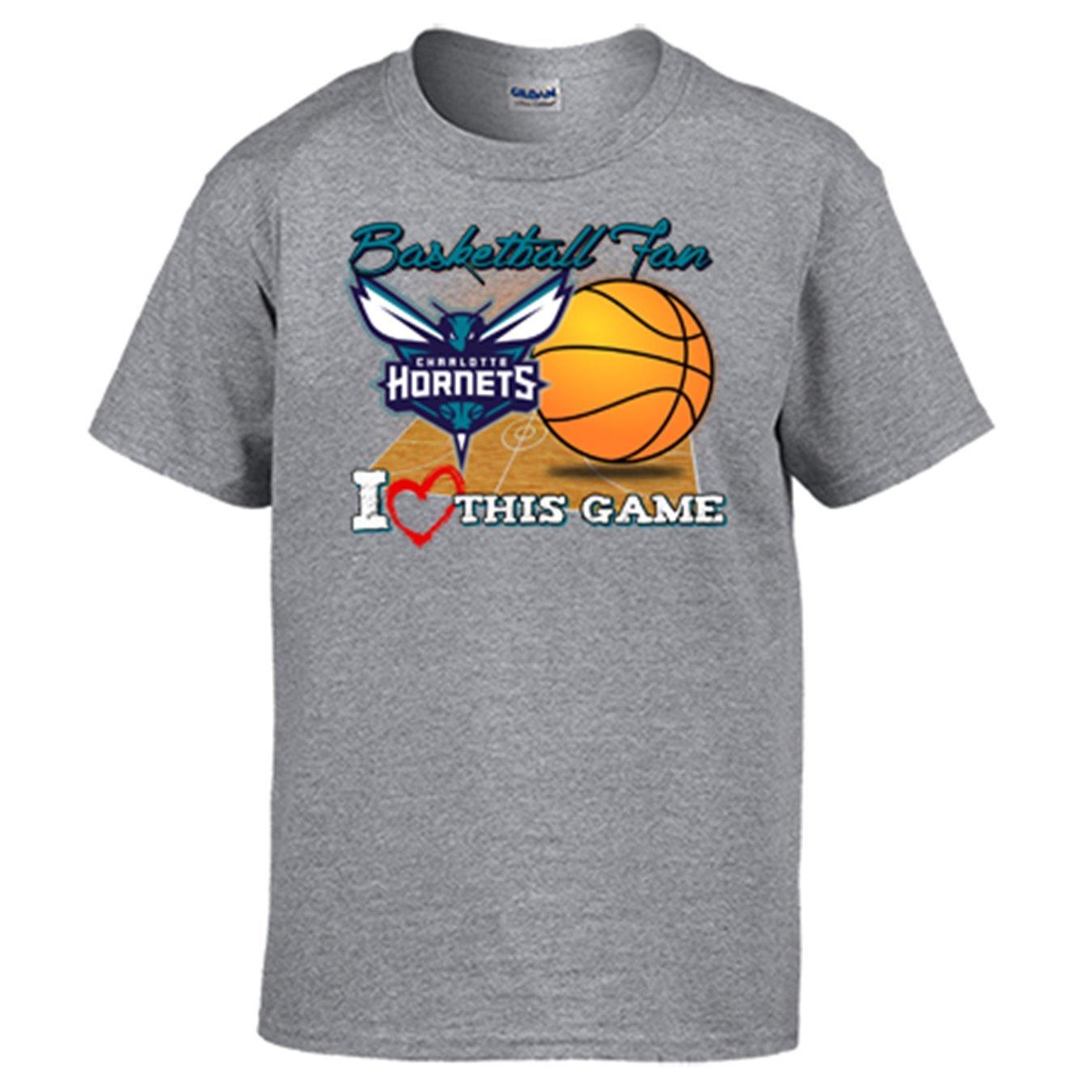 Camiseta NBA Charlotte Hornets Baloncesto Basketball fan I Love This Game: Amazon.es: Ropa y accesorios