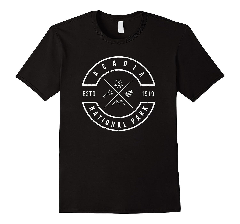 Acadia National Park T Shirt Maine Emblem Souvenirs-TH