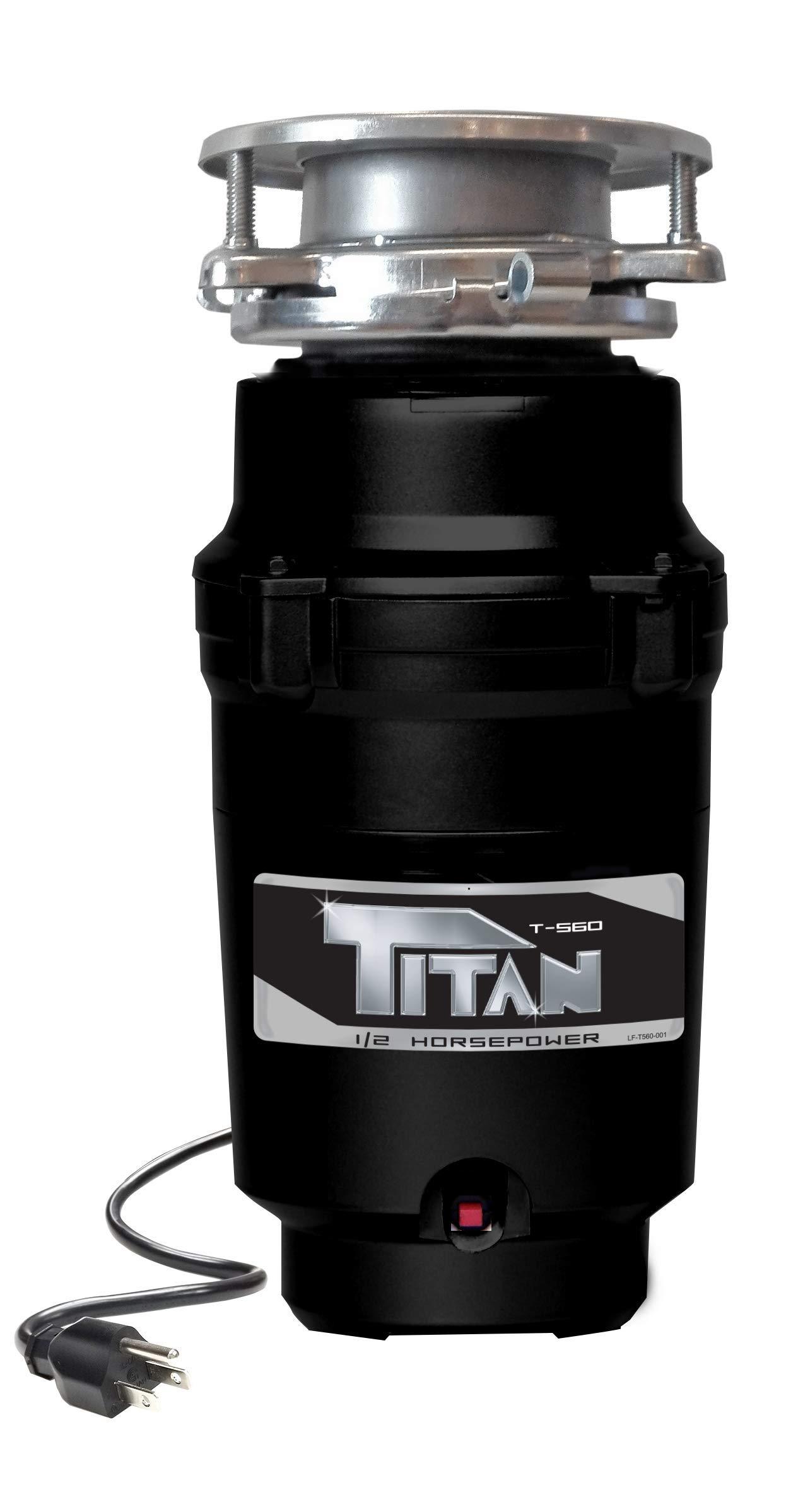 Titan T-560 Garbage Disposal, 1/2 HP - Economy, black by Titan