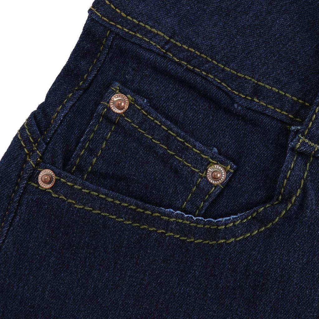 MORETIME Shorts Damen Women Destroyed Ripped High Waist Denim Shorts Hot Pants Low Waisted Washed Short Mini