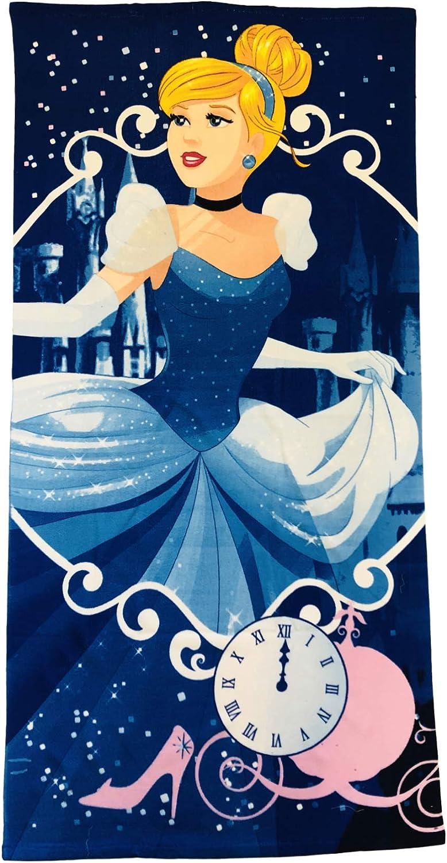 KOMARKIDS Cinderella Castle and Glass Slipper Microfiber Towel