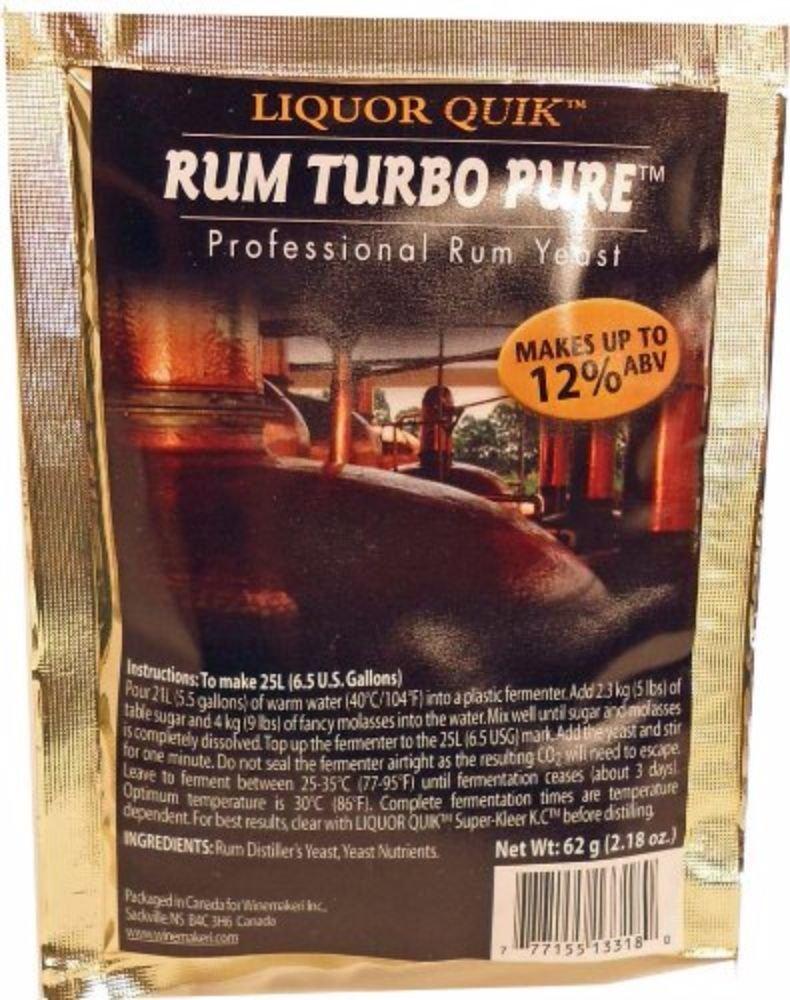 Amazon.com: Liquor Quick Rum Turbo Pure Professional Rum Yeast: Industrial & Scientific