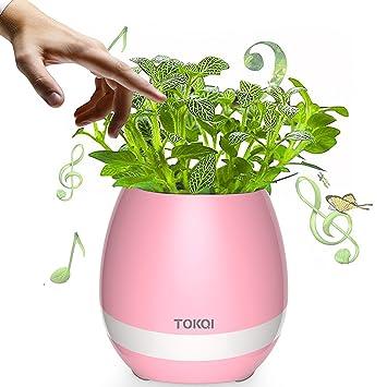 Amazon.com: Gendax Music Flowerpot , Smart Touch Plant Piano Music ...